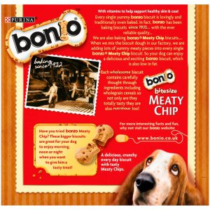 BONIO Meaty Chip Dog Biscuits, Bitesize, 400g