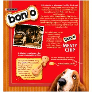 BONIO Meaty Chip Dog Biscuits, 375g