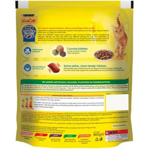 GO-CAT Crunchy & Tender Salmon, Tuna & Vegetable, 800g