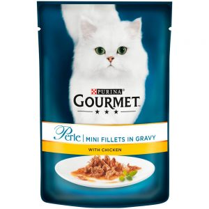 GOURMET Perle Mini Fillets in Gravy Chicken, 85g