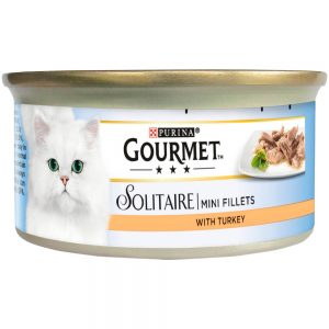 GOURMET Solitaire Mini Fillets Turkey Can, 85g