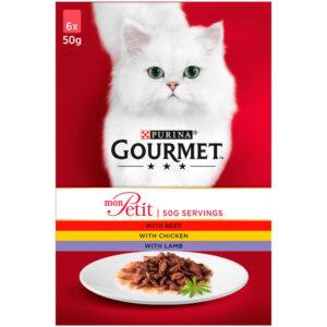 GOURMET Mon Petit Meat Pouch Multipack, 6x50g