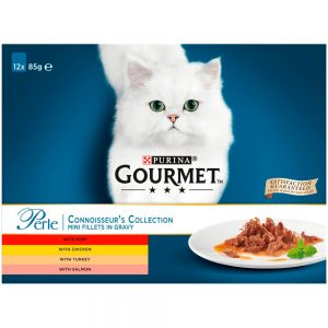 GOURMET Perle Connoisseurs Collection Pouch Multipack, 12x85g