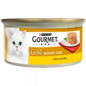 GOURMET Gold Savoury Cake with Chicken Can, 85g