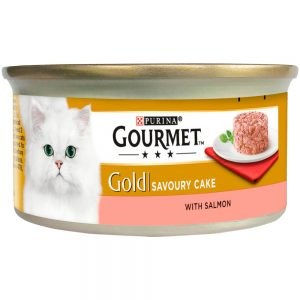GOURMET Gold Savoury Cake with Salmon Can, 85g