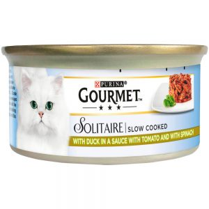 GOURMET Solitaire Duck & Tomato Can, 85g