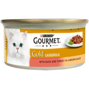 GOURMET Gold Casserole with Duck & Turkey Can, 85g