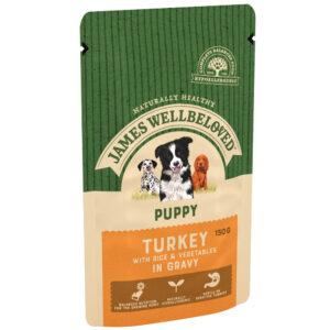 JAMES WELLBELOVED Pouch Puppy Turkey, 150g