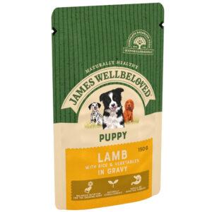JAMES WELLBELOVED Pouch Puppy Lamb, 150g