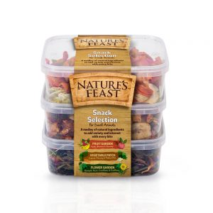 NATURE'S FEAST Small Animal Natural Snack Pots x3, 175g