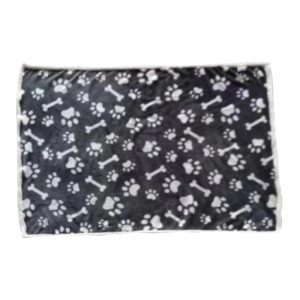 BEDDIES Pet Blanket with Paw & Bone Design