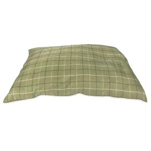BEDDIES Lime Green Check Cushion, Medium