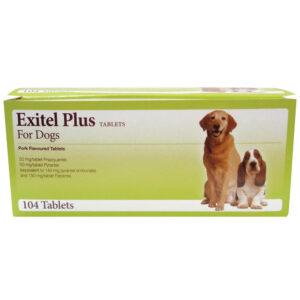 EXITEL Plus Dog Worming Tablet, Single