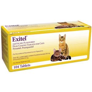 EXITEL Cat Worming Tablet, Single