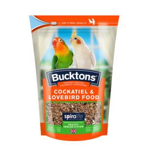 BUCKTONS Cockatiel & Lovebird Food with Spiralife, 500g