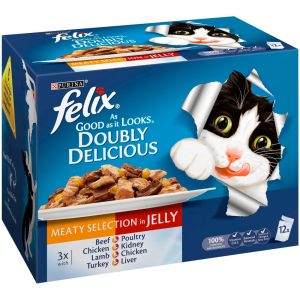 FELIX AGAIL Doubly Delicious Meat Selection in Jelly Pouch, 12x100g