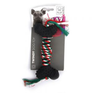 M-PETS Twindy Rope & Rubber Chew Toy