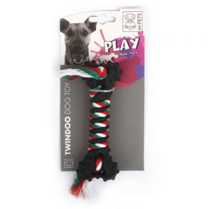 M-PETS Twindoo Rope & Rubber Chew Toy