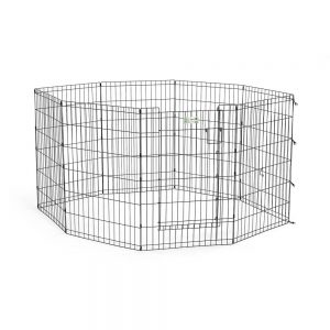 MIDWEST Exercise Pen with Door, 36in Black