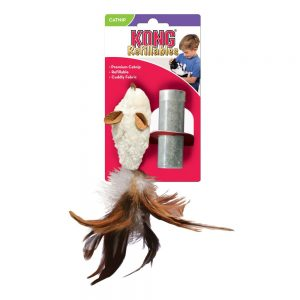 KONG Kong Cat Refillables Feather Mouse with Catnip (PP)