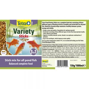 TETRA Pond Variety Sticks, 1-litre/150g