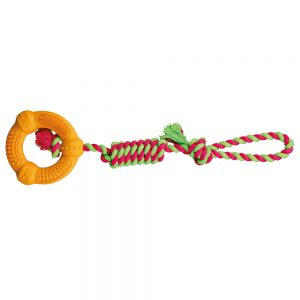 TRIXIE Denta Fun Rope With Rubber Ring, 41cm