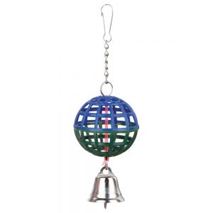 TRIXIE Lattice Ball with Chain & Bell, 7cm