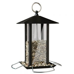TRIXIE Hanging Metal Feeder, 1000ml, 19x20x19cm Black