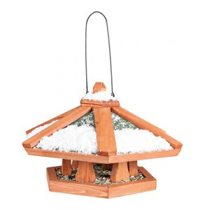 TRIXIE Natura Hanging Bird Feeder Wide Roof 42x24cm