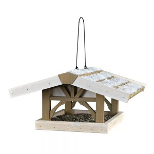 TRIXIE Natura Hanging Bird Feeder 46x22x44cm Grey/White
