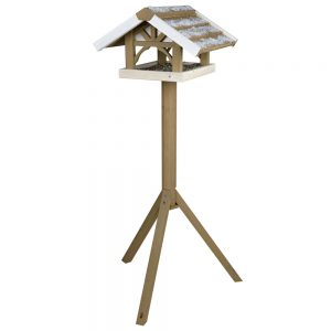 TRIXIE Natura Bird Feeder with Stand 45x28x44cm, 1.25m Grey/White