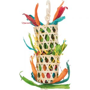 TRIXIE Palm & Lily Leaves on Sisal Rope, 35cm