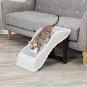 TRIXIE Collapsible Steps, 34×39×54cm (up to 40kg) Light Grey