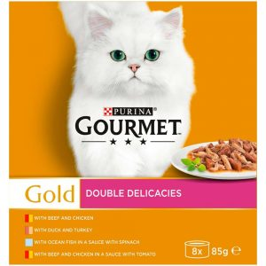 GOURMET Gold Double Delicacies Can Multipack, 12x85g