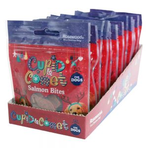 ROSEWOOD Cupid & Comet  Salmon Bites for Dogs, 40g