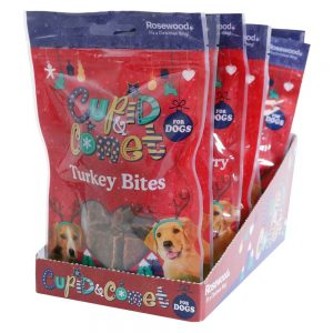 ROSEWOOD Cupid & Comet  Turkey Bites for Dogs, 40g