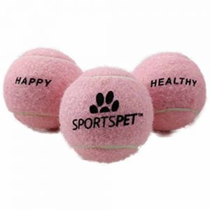 SPORTSPET Tennis Ball Pink 6.5cm, 3pk