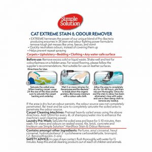 SIMPLE SOLUTION Cat Extreme Stain & Odour Remover, 500ml