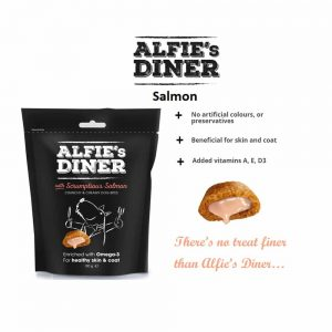 ALFIE'S DINER Salmon Flavoured Dog Treat with Omega-3, 100g