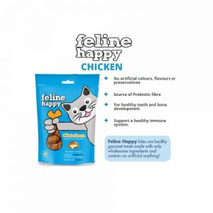FELINE HAPPY Chicken Flavoured Cat Treat, 60g