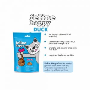 FELINE HAPPY Duck Flavoured Cat Treat, 60g