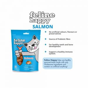 FELINE HAPPY Salmon Flavoured Cat Treat, 60g
