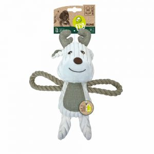 M-PETS Rune Deer Eco Dog Toy, Green/White
