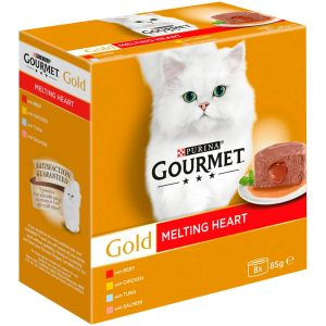 GOURMET Gold Melting Heart Can Multipack, 8x85g