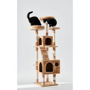 BLUE PAW X-Large Cat Tree with Two Caves, 138x50cm