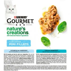 GOURMET Natures Creations Mini Fillets Fish 8x85g