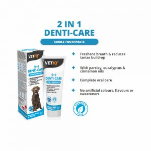 VetIQ 2in1 Denti-Care Edible Toothpaste, 70g