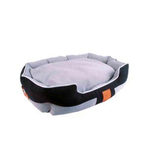 M-PETS Moon Basket Bed, Orange & Grey