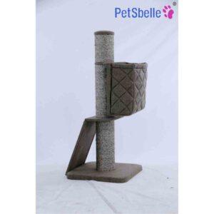 BLUE PAW Cat Pillar with Ramp & Basket Mocha, 48x48x109cm