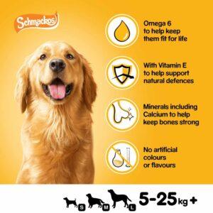 PEDIGREE Schmackos Dog Treats with Poultry, 20 Sticks